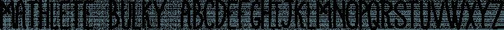 Mathlete Bulky free font
