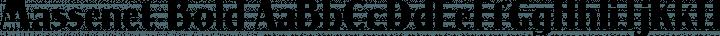 Massenet Bold free font