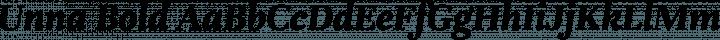 Unna Bold free font