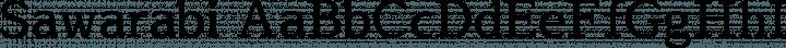Sawarabi font family by mshio