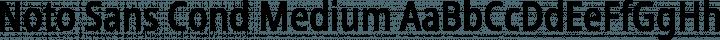 Noto Sans Cond Medium free font
