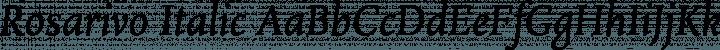 Rosarivo Italic free font