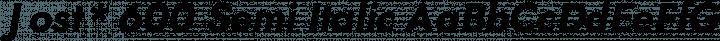 Jost* 600 Semi Italic free font