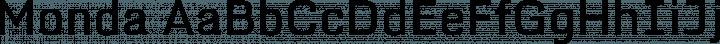 Monda font family by Vernon Adams