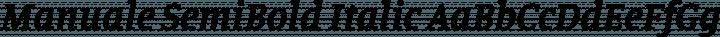Manuale SemiBold Italic free font