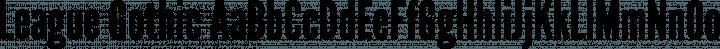 League Gothic Regular free font