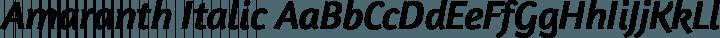 Amaranth Italic free font