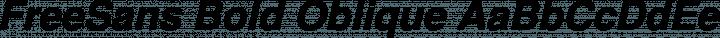 FreeSans Bold Oblique free font