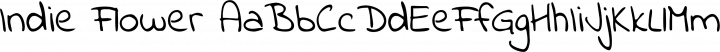 Indie Flower Regular free font