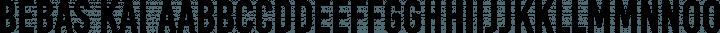 Bebas Kai font family by Dharma Type
