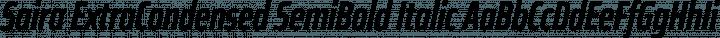 Saira ExtraCondensed SemiBold Italic free font