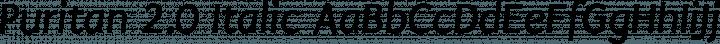 Puritan 2.0 Italic free font
