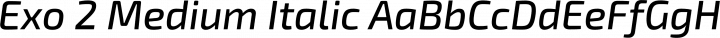 Exo 2 Medium Italic free font