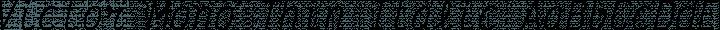 Victor Mono Thin Italic free font