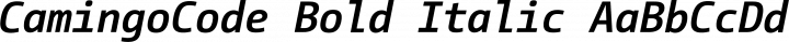 CamingoCode Bold Italic free font