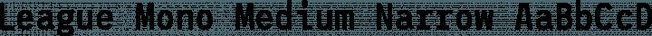 League Mono Medium Narrow free font