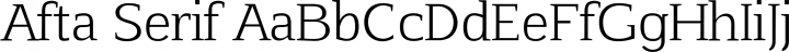 Afta Serif font family by Oriol Esparraguera