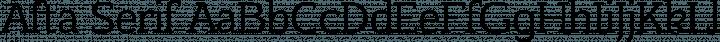 Afta Serif Regular free font