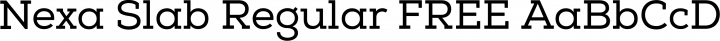Nexa Slab Regular FREE free font
