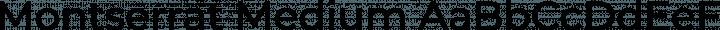 Montserrat Medium free font