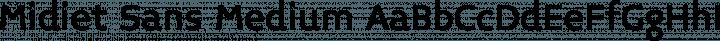 Midiet Sans Medium free font