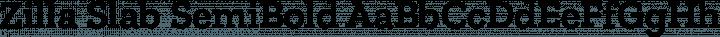 Zilla Slab SemiBold free font
