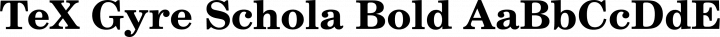 TeX Gyre Schola Bold free font