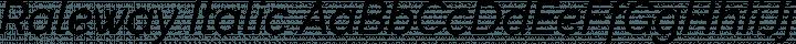 Raleway Italic free font