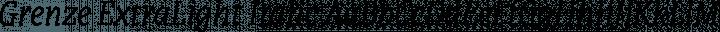 Grenze ExtraLight Italic free font