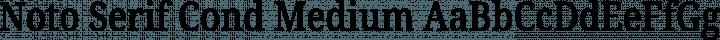 Noto Serif Cond Medium free font