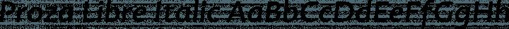Proza Libre Italic free font
