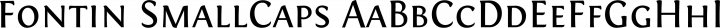 Fontin SmallCaps free font