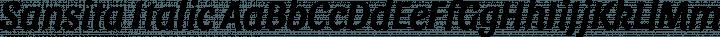 Sansita Italic free font