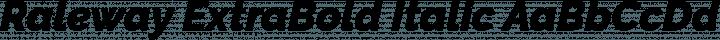 Raleway ExtraBold Italic free font