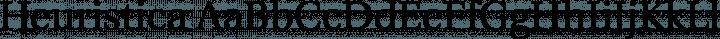 Heuristica Regular free font
