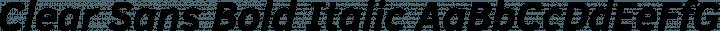 Clear Sans Bold Italic free font