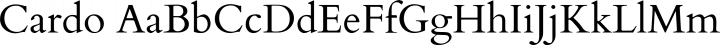 Cardo Regular free font