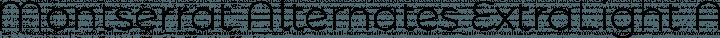 Montserrat Alternates ExtraLight free font