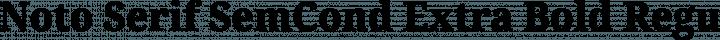 Noto Serif SemCond Extra Bold Regular free font