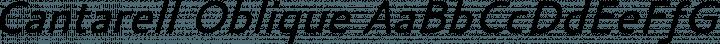 Cantarell Oblique free font