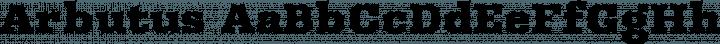 Arbutus Regular free font