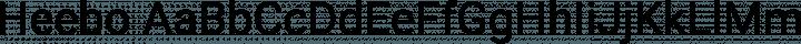 Heebo Regular free font