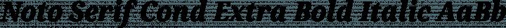 Noto Serif Cond Extra Bold Italic free font