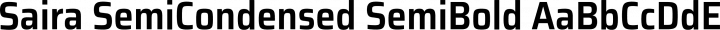 Saira SemiCondensed SemiBold free font