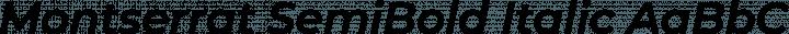 Montserrat SemiBold Italic free font
