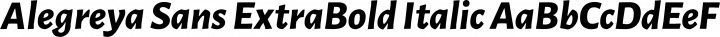 Alegreya Sans ExtraBold Italic free font