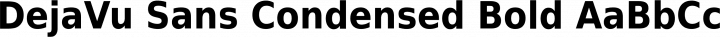 DejaVu Sans Condensed Bold free font