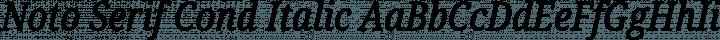 Noto Serif Cond Italic free font