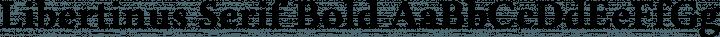 Libertinus Serif Bold free font