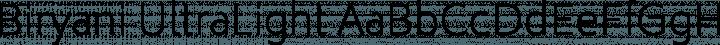 Biryani UltraLight free font